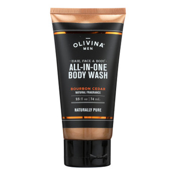 Olivina Men - All In One Wash Bourb Ced - 2.5 Oz