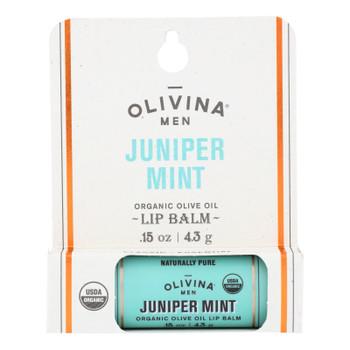 Olivina Men - Lip Balm Juniper Mint - 1 Each - .15 Oz