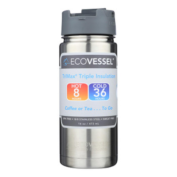 Ecovessel Trimax Triple Insulation Bottles With Removable Strainers  - Case Of 6 - 16 Oz