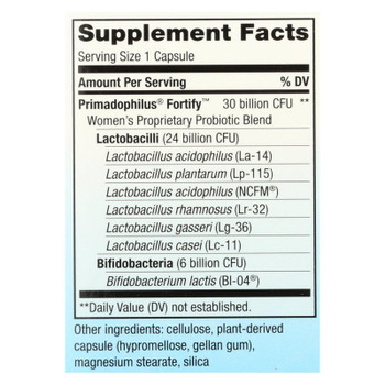Nature's Way - Fortify Probiotic Women 30b - 1 Each - 30 Vcap