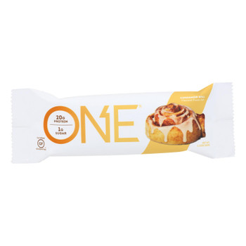 One Cinnamon Roll Protein Bar  - Case Of 12 - 60 Grm