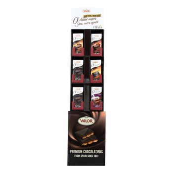 Valor Chocolate Assorted  - Case Of 102 - 3.5 Oz