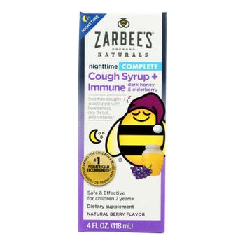Zarbee's - Cough Syrup Night Immu El - 1 Each - 4 Fz
