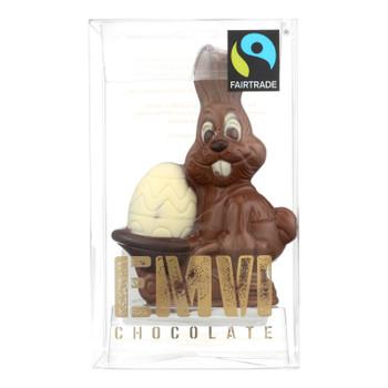 Emvi Chocolate The Fair Egg Barrel Bunny Milk Chocolate  - Case Of 9 - 2.64 Oz