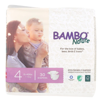 Bambo Nature Eco-friendly Diapers  - Case Of 6 - 30 Ct