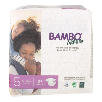 Bambo Nature Eco-friendly Diapers  - Case Of 6 - 27 Ct