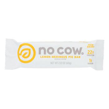 D's Naturals The No Cow Bar Lemon Meringue Pie Protein Bar - Case Of 12 - 2.12 Oz
