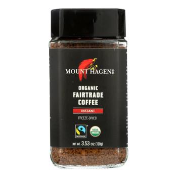 Mount Hagen Instant Organic Fairtrade Coffee  - Case Of 6 - 3.53 Oz