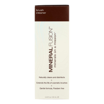 Mineral Fusion Natural Makeup Brush Cleaner Naturally  - 1 Each - 3.45 Oz