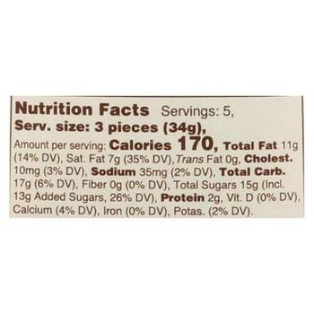 Lake Champlain Chocolates Organic Milk Chocolate Caramel  - Case Of 12 - 6 Oz
