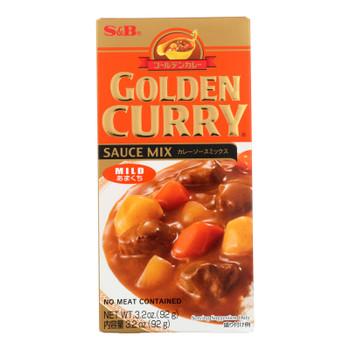 S&b - Sauce Mix Golden Curry Mild - Case Of 12 - 3.2 Oz