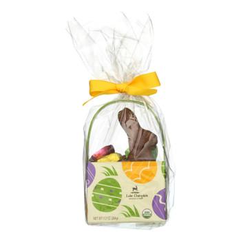 Lake Champlain Chocolates - Chocolate Bunny Hop Basket - Case Of 8-7.2 Oz