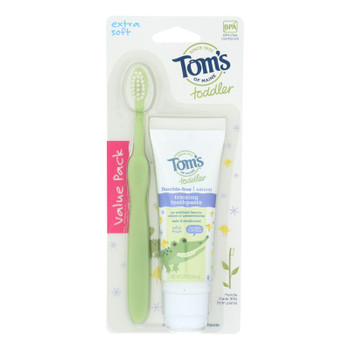 Tom's Of Maine - Tp/tb Toddler Combo Pack - Case Of 6 - 1.75 Oz