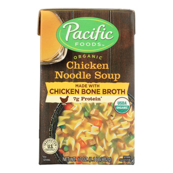 Pacific Natural Foods Chicken Noodle Soup - Case Of 12 - 17 Oz