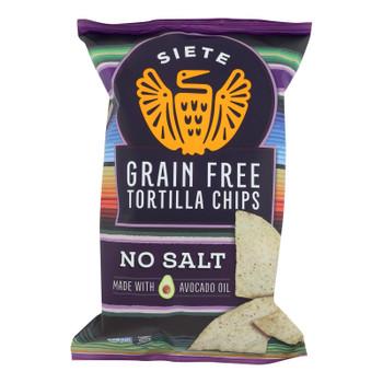 Siete - Tortilla Chip No Salt - Case Of 12 - 5 Oz