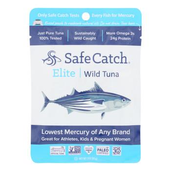 Safe Catch - Tuna Elite Wild Ss Pouch - Case Of 12 - 3 Oz