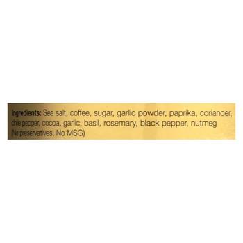 A.a. Borsari Coffee Seasoned Rub  - Case Of 6 - 3.5 Oz