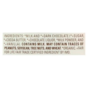 Lake Champlain Chocolates Organic Milk & Dark Chocolates  - Case Of 12 - 10 Oz