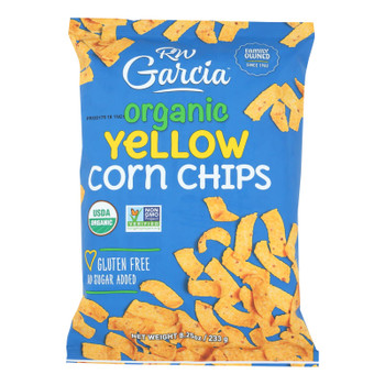 R. W. Garcia Organic Yellow Corn Chips - Case Of 12 - 8.25 Oz