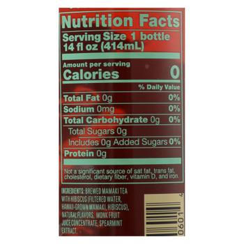 Shaka Tea Mango Hibiscus Drink - Case Of 12 - 14 Fz