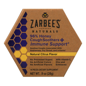Zarbee's Naturals 96% Honey Cough Soothers & Immune Support  - 1 Each - .9 Fz