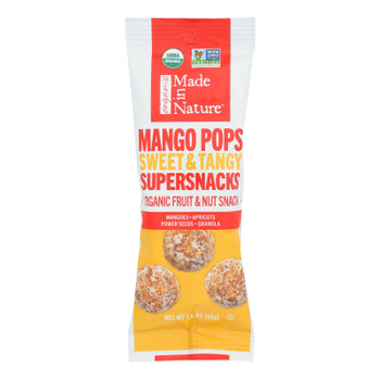 Made In Nature Mango Pops Supersnacks Organic Fruit & Nut Snack - Case Of 10 - 1.60 Oz