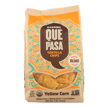 Que Pasa - Tort Chips Yel Corn - Case Of 12 - 11 Oz