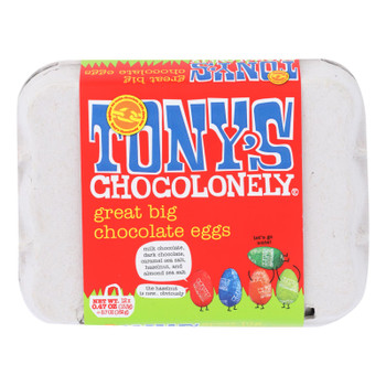Tony's Chocolonely - Eggs Chocolate Great Big - Case Of 24 - 5.7 Oz