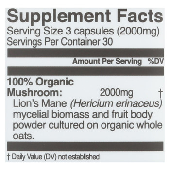 Organic Mushroom Nutrition - Mush Sprfd Lions Mane Cap - 1 Each - 90 Ct