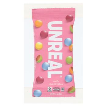 Unreal - Chocolate Gems Milk Chocolate - Case Of 12 - 1.3 Oz