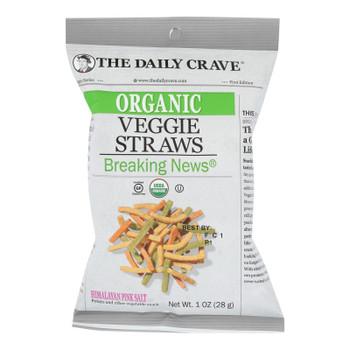The Daily Crave - Veggie Straws - Case Of 24 - 1 Oz