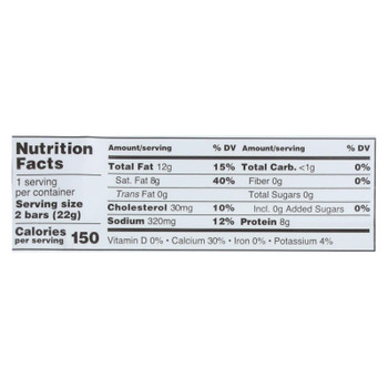 Just The Cheese - Bars Grilled Cheese - Case Of 12 - .8 Oz