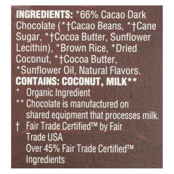 Lundberg Family Farms - Stackers Dark Chocolate Coconut - Case Of 6 - 3.4 Oz