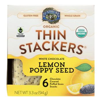 Lundberg Family Farms - Stackers White Chocolate Lemon - Case Of 6 - 3.3 Oz