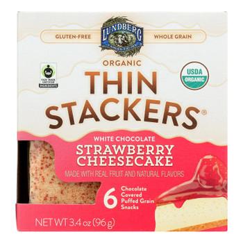 Lundberg Family Farms - Stackers White Chocolate Stw - Case Of 6 - 3.4 Oz
