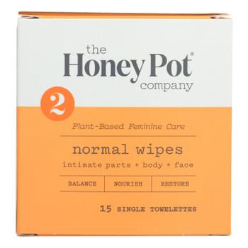 The Honey Pot - Wipes Intimate Nrml Indv - 15 Ct
