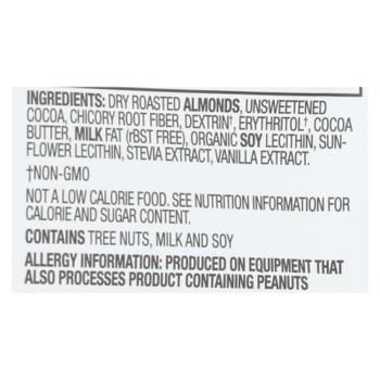 Lily's Sweets - Cvrd Almond Dark Chocolate Stevia - Case Of 12 - 3.5 Oz