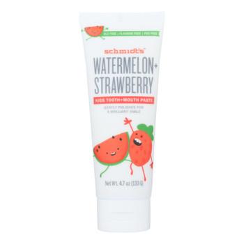 Schmidt's - Toothpaste Watermelon Straw - 1 Each - 4.7 Oz