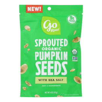 Go Raw - Snack Seed Pumpkin Sprtd - Case Of 10 - 4 Oz