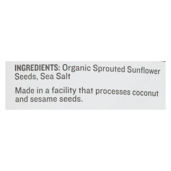 Go Raw - Snack Seed Snflwr Sprtd - Case Of 10 - 4 Oz