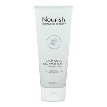 Nourish Botanical Beauty - Gel Face Wash Calm Cool - 1 Each - 6 Fz