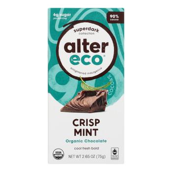 Alter Eco Americas - Chocolate Dp Dark Crisp Mint - Case Of 12 - 2.65 Oz