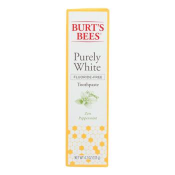 Burts Bees - Toothpste Prly Wht Pprmnt - 1 Each - 4.7 Oz