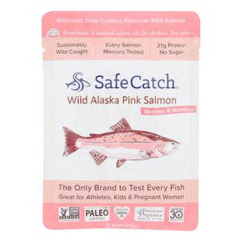 Safe Catch - Salmon Pink Wild Alaskan - Case Of 12 - 3 Oz