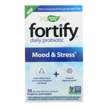 Nature's Way - Fortify Probiotic Mood Strss - 1 Each - 30 Cap
