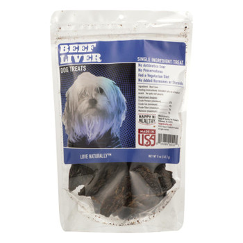 Happy N Healthy Pet - Dog Treat Beef Liver Abf - Case Of 8 - 5 Oz