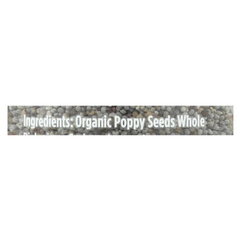 Spicely Organics - Poppy Seeds - Case Of 3 - 2.2 Oz