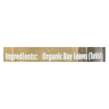 Spicely Organics - Bay Leaves Turkish - Case Of 3 - .09 Oz