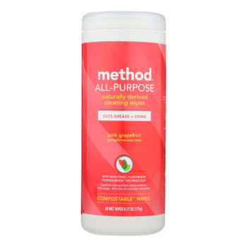 Method Products Inc - Wipes Ap Grapefruit - Case Of 6 - 30 Ct