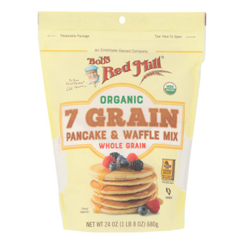Bob's Red Mill - Pancake/waffle 7 Green - Case Of 4 - 24 Oz